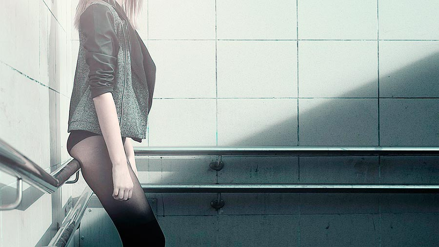 Chica con miedo a la anorexia