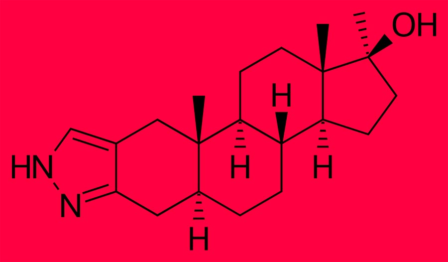 Estructura química del Stanozolol