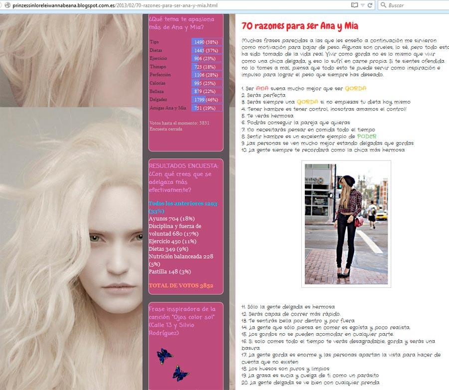 Los Blog y Foros Pro Ana y Su Razón de Ser